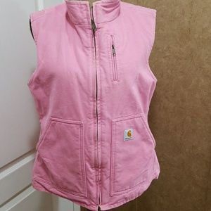 Carhartt mock neck/sherpa  lined vest